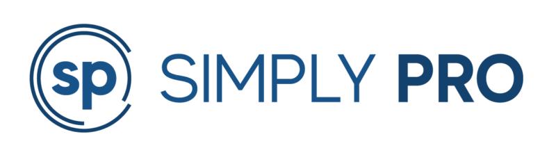 Logo s textem Simply Pro.