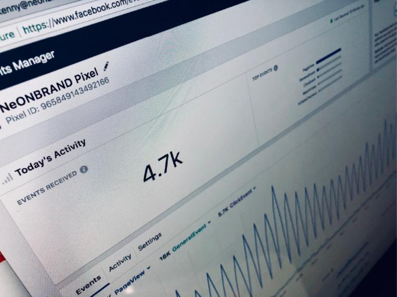 Obrázek zachycující graf aktivity reklamy nebo shlednutí.